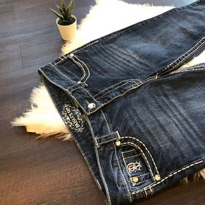 Paisley Sky Jeans cropped